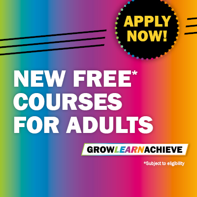 New FREE Courses for Adults - April and May start dates