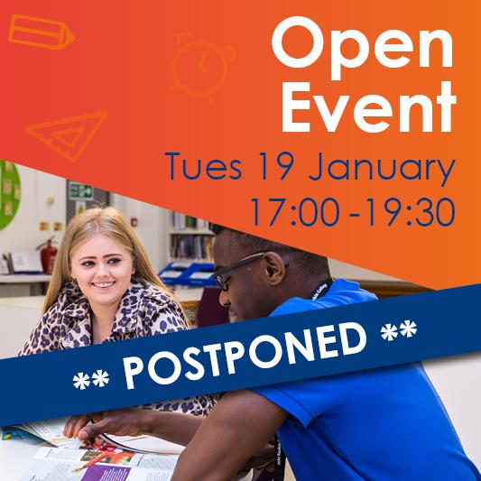 Open Event Postponed