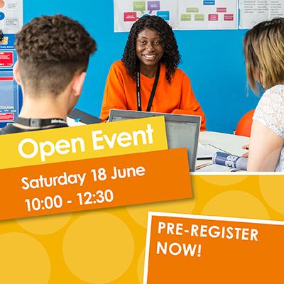 Open Event 18 June