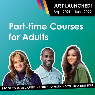 New Part-time Courses for Adults Launched for 2021!